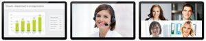 Videokonferenz und Telepresence maximal acht Bildschirme möglich