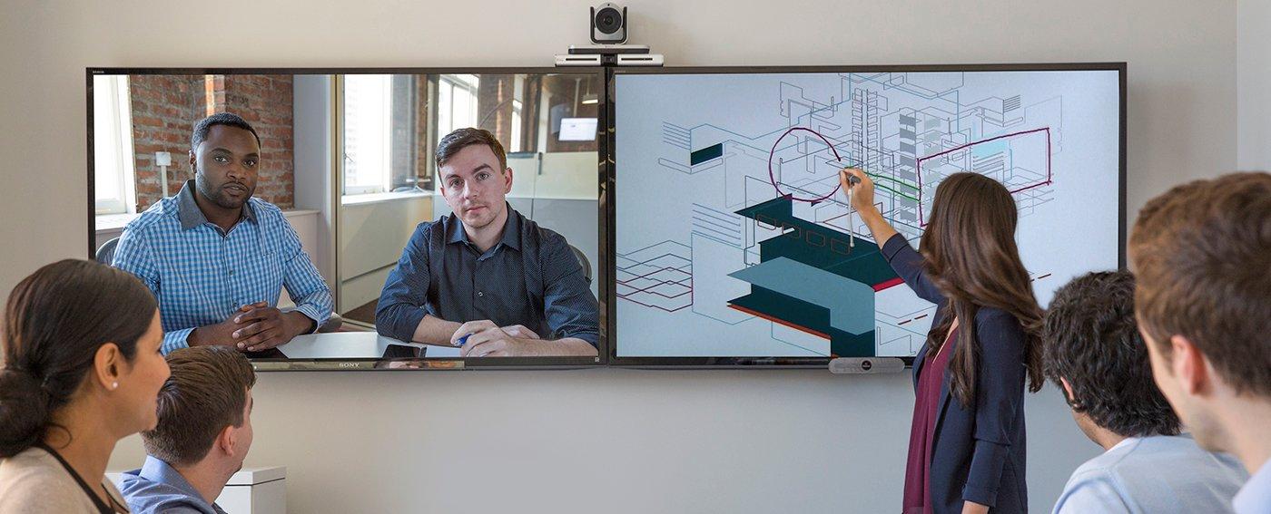 Polycom Lösungen mit interaktiver Touch Bildschirme